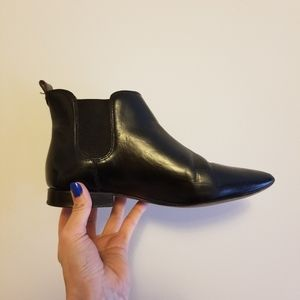 Madewell Black Leather Booties